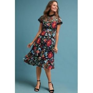 new Anthropologie JANINE EMBROIDERED DRESS